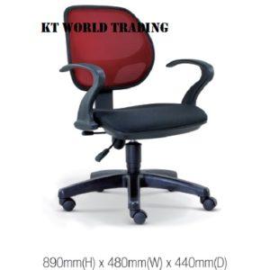 KT2136H OFFICE LOWBACK MESH CHAIR office netting chair office furniture malaysia selangor kuala lumpur shah alam sugai buloh kepong