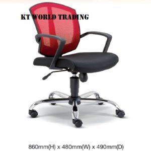 KT2561H OFFICE MESH LOWBACK CHAIR office netting chair office furniture malaysia selangor kuala lumpur shah alam petaling jaya kota kemuning