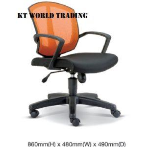 KT2563H OFFICE MESH LOWBACK CHAIR office netting chair office furniture malaysia selangor kuala lumpur shah alam petaling jaya kota kemuning