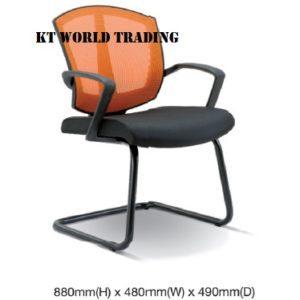 KT2564S OFFICE MESH CONFERENCE VISITOR CHAIR office netting chair office furniture malaysia selangor kuala lumpur shah alam petaling jaya kota kemuning