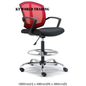 KT2565H OFFICE DAFTING MESH CHAIR WITH ARMREST office netting chair office furniture malaysia selangor kuala lumpur shah alam petaling jaya kota kemuning