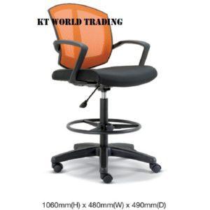 KT2566H OFFICE DAFTING MESH CHAIR WITH ARMREST office netting chair office furniture malaysia selangor kuala lumpur shah alam petaling jaya kota kemuning