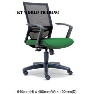 KT2613H EXECUTIVE OFFICE LOWBACK MESH CHAIR office netting chair office furniture malaysia selangor kuala lumpur shah alam petaling jaya kepong