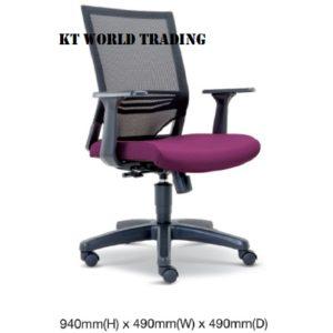 KT2614H EXECUTIVE OFFICE LOWBACK MESH CHAIR office netting chair office furniture malaysia selangor kuala lumpur shah alam petaling jaya kepong