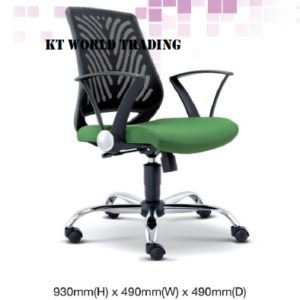 KT2621H EXECUTIVE OFFICE LOWBACK MESH CHAIR office netting chair office furniture malaysia selangor shah alam kuala lumpur klang valley bangsar