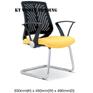 KT2625S EXECUTIVE OFFICE CONFERENCE VISITOR MESH CHAIR office netting chair office furniture malaysia selangor shah alam kuala lumpur klang valley bangsar
