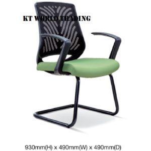 KT2627S EXECUTIVE OFFICE CONFERENCE VISITOR MESH CHAIR office netting chair office furniture malaysia selangor shah alam kuala lumpur klang valley bangsar