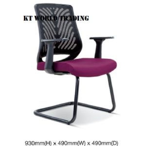 KT2628S EXECUTIVE OFFICE CONFERENCE VISITOR MESH CHAIR office netting chair office furniture malaysia selangor shah alam kuala lumpur klang valley bangsar