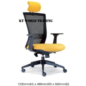 KT2655H EXECUTIVE OFFICE HIGHBACK MESH CHAIR office netting chair office furniture malaysia selangor shah alam kuala lumpur klang valley petaling jaya
