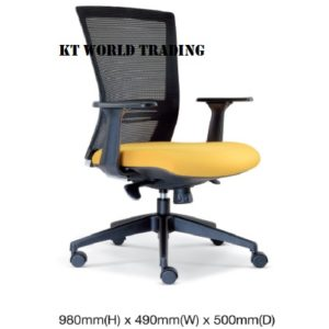 KT2656H EXECUTIVE OFFICE LOWBACK MESH CHAIR office netting chair office furniture malaysia selangor shah alam kuala lumpur klang valley petaling jaya