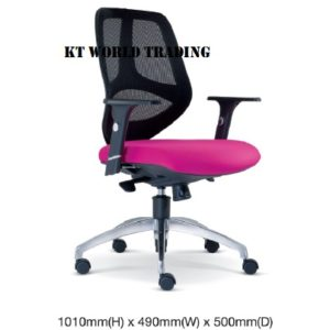 KT2662H EXECUTIVE OFFICE LOWBACK MESH CHAIR office netting chair office furniture malaysia selangor shah alam kuala lupur damansara sugai besi