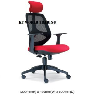 KT2665H EXECUTIVE OFFICE HIGHBACK MESH CHAIR office netting chair office furniture malaysia selangor shah alam kuala lupur damansara sugai besi