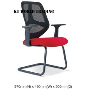 KT2667H EXECUTIVE OFFICE CONFERENCE VISITOR MESH CHAIR office netting chair office furniture malaysia selangor shah alam kuala lupur damansara sugai besi
