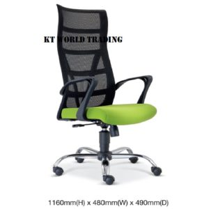 KT2671H EXECUTIVE HIGHBACK MESH CHAIR office netting chair office furniture malaysia selangor kuala lumpur shah alam klang valley puchong