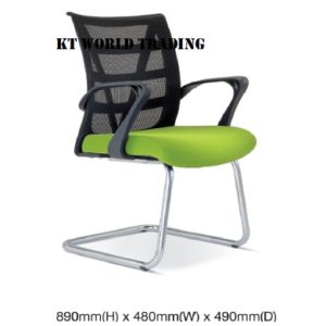 KT2673H EXECUTIVE CONFERENCE VISITOR MESH CHAIR office netting chair office furniture malaysia selangor kuala lumpur shah alam klang valley puchong