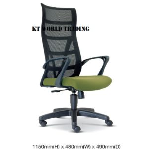 KT2675H EXECUTIVE HIGHBACK MESH CHAIR office netting chair office furniture malaysia selangor kuala lumpur shah alam klang valley puchong