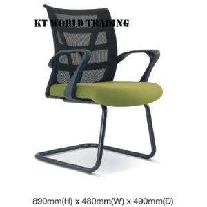 KT2677H EXECUTIVE CONFERENCE VISITOR MESH CHAIR office netting chair office furniture malaysia selangor kuala lumpur shah alam klang valley puchong