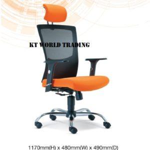 KT2681H EXECUTIVE HIGHBACK MESH CHAIR office netting chair office furniture malaysia selangor shah alam subang jaya kuala lumpur klang valley