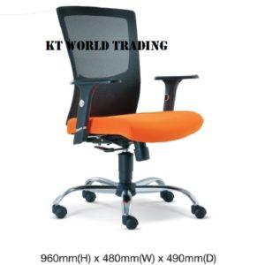 KT2682H EXECUTIVE LowBACK MESH CHAIR office netting chair office furniture malaysia selangor shah alam subang jaya kuala lumpur klang valley