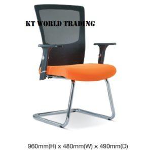 KT2683H EXECUTIVE CONFERENCE VISITOR MESH CHAIR office netting chair office furniture malaysia selangor shah alam subang jaya kuala lumpur klang valley