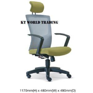 KT2685H EXECUTIVE HIGHBACK MESH CHAIR office netting chair office furniture malaysia selangor shah alam subang jaya kuala lumpur klang valley