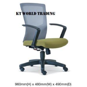 KT2686H EXECUTIVE lowBACK MESH CHAIR  office netting chair office furniture malaysia selangor shah alam subang jaya kuala lumpur klang valley