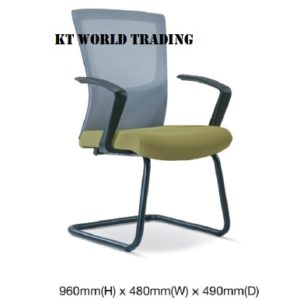 KT2687H EXECUTIVE CONFERENCE VISITOR MESH CHAIR office netting chair office furniture malaysia selangor shah alam subang jaya kuala lumpur klang valley