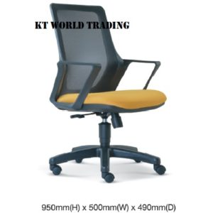 KT2694H MESH LOWBACK CHAIR office netting chair office furniture malaysia selangor shah alam kuala lumpur puchong damansara