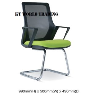 KT2695S MESH CONFERENCE VISITOR CHAIR office netting chair office furniture malaysia selangor shah alam kuala lumpur puchong damansara