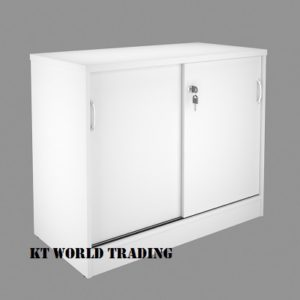 KT-SS SIDE CABINET WITH SLIDING DOOR COLOR FULLY WHITE office furniture malaysia selangor kuala lumpur shah alam klang valley