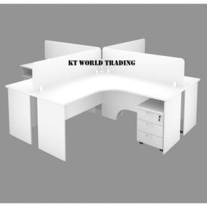 WORK STATION WITH L SHAPE TABLE & DESKING office furniture malaysia selangor kuala lumpur shah alam petaling jaya subang jaya