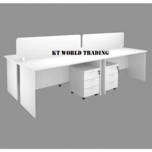 WORK STATION WITH RECTANGULAR WRITING TABLE & DESKING office furniture malaysia selangor kuala lumpur shah alam petaling jaya subang jaya