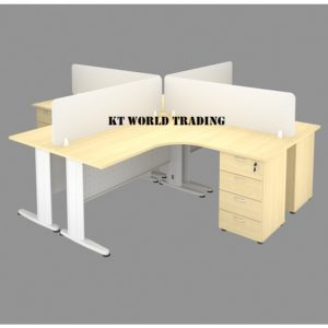 OFFICE FURNITURE SET WITH METAL J LEG MAPLE office furniture malaysia selangor kuala lumpur shah alam petaling jaya puchong