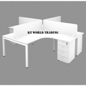 OFFICE FURNITURE SET WITH METAL U LEG  office furniture malaysia selangor kuala lumpur shah alam petaling jaya puchong