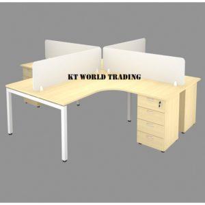 OFFICE FURNITURE SET WITH METAL U LEG MAPLE office furniture malaysia selangor kuala lumpur shah alam petaling jaya puchong