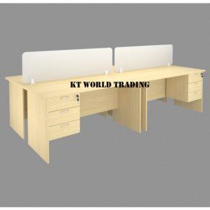 WRITING TABLE CW FIXED PEDESTAL AND MODESTY PANEL office furniture malaysia selangor kuala lumpur shah alam petaling jaya puchong