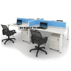 MU4CA-F4 FABRIC PANEL MAPLE OFFICE PARTITION WORKSTATION office furniture malaysia selangor kuala lumpur shah alam petaling jaya subang jaya