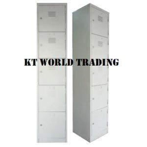 5 COMPARTMENT STEEL LOCKER 1828 X 381 X 381 office furniture malaysia selangor shah alam kuala lumpur klang valley
