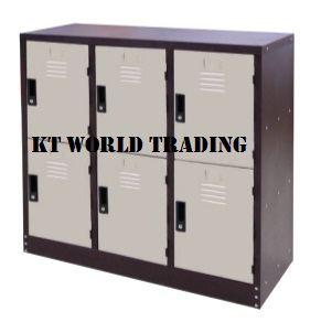 6 COMPARTMENT HALF HEIGHT STEEL LOCKER steel locker office furniture