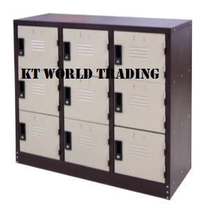 9 COMPARTMENT HALF HEIGHT STEEL LOCKER steel locker office furniture