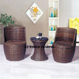 GARDENT SET KT-8861C+T brown outdoor furniture malaysia selangor kuala lumpur shah alam