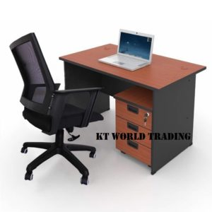office furniture set kt-ps5a office table mobile pedestal mesh chair malaysia selangor kuala lumpur shah alam klang valley