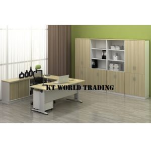 KT-B11-SET U SHAPE TABLE WITH CABINET  OFFICE FURNITURE MALAYSIA SELANGOR SHAH ALAM KUALA LUMPUR KLANG VALLEY