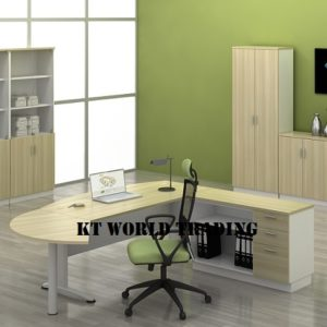 KT-B180A-SET WRITING TABLE WITH SIDE CABINET OFFICE FURNITURE MALAYSIA SELANGOR SHAH ALAM KUALA LUMPUR KLANG VALLEY
