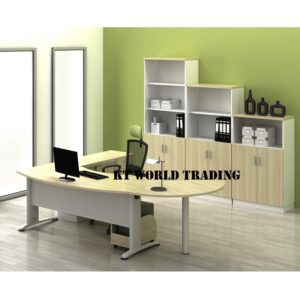 kt-b55 WRITING TABLE WITH CABINET OFFICE FURNITURE MALAYSIA SELANGOR SHAH ALAM KUALA LUMPUR KLANG VALLEY