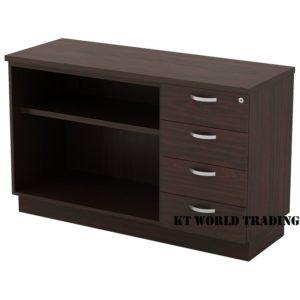 KT-EOP750(4) OPEN SHELF + FIXED PEDESTAL 4D office furniture malaysia selangor kuala lumpur shah alam klang valley