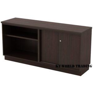 KT-EOS750 OPEN SHELF + SLIDING DOOR LOW CABINET office furniture malaysia selangor kuala lumpur shah alam klang valley