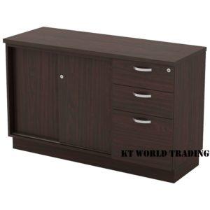 KT-ESP750(3) SLIDING DOOR + FIXED PEDESTAL 2D1F office furniture malaysia selangor kuala lumpur shah alam klang valley
