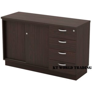 KT-ESP750(4) SLIDING DOOR + FIXED PEDESTAL 4D office furniture malaysia selangor kuala lumpur shah alam klang valley