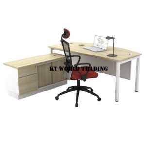 kt-sdc180a EXECUTIVE TABLE & SIDE CABINET OFFICE FURNITURE MALAYSIA SELANGOR SHAH ALAM KUALA LUMPUR KLANG VALLEY